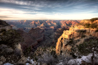 South Rim View At Sunset